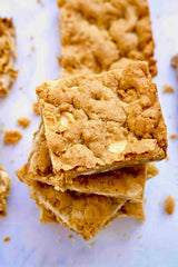 White Chocolate Snickerdoodle Blondies