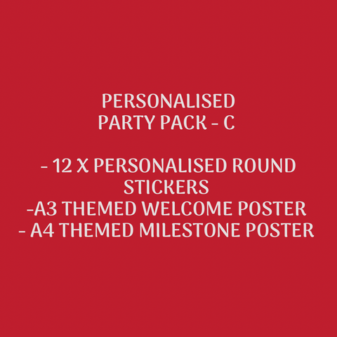PERSONALISED PARTY SUPPLIES PACK - C