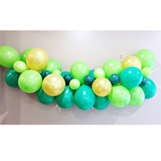 green and gold balloon garland kit