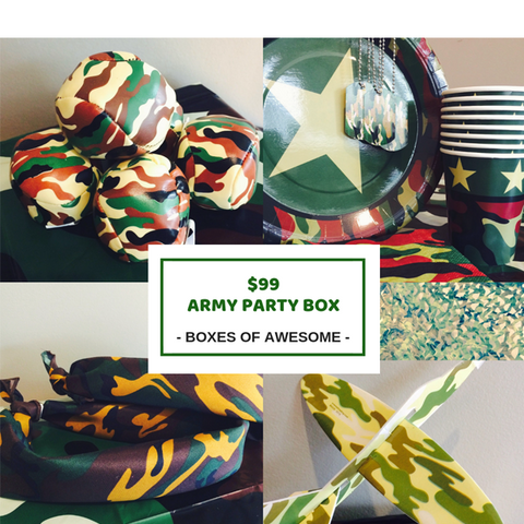 Camouflage / Army party supplies