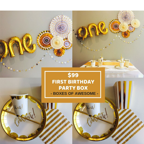 $99 PARTY BOX | FIRST BIRTHDAY