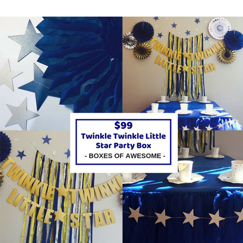 Twinkle twinkle little star party decorations