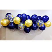 navy and gold balloon garland kit