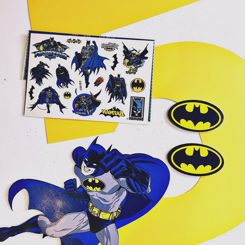 Handmade batman party decorations