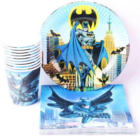 Batman party tableware