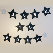 Rockstar party supplies personalised bunting