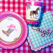 Cowgirl / horse party supplies