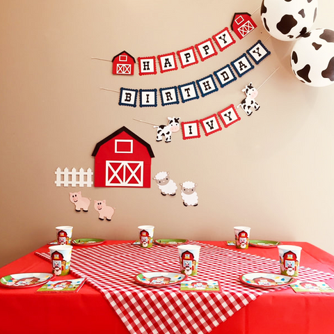 Farmyard party supplies
