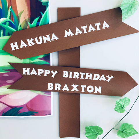 Personalised party sign post