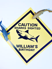 Shark personalised party decorations