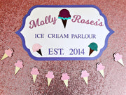 ice cream personalised party decorations