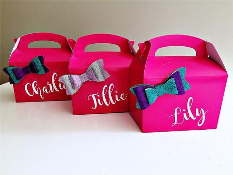 Personalised party gift boxes