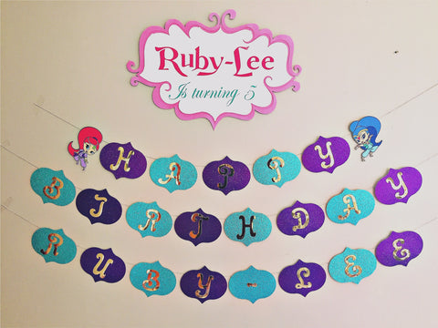 Shimmer and Shine party bunting