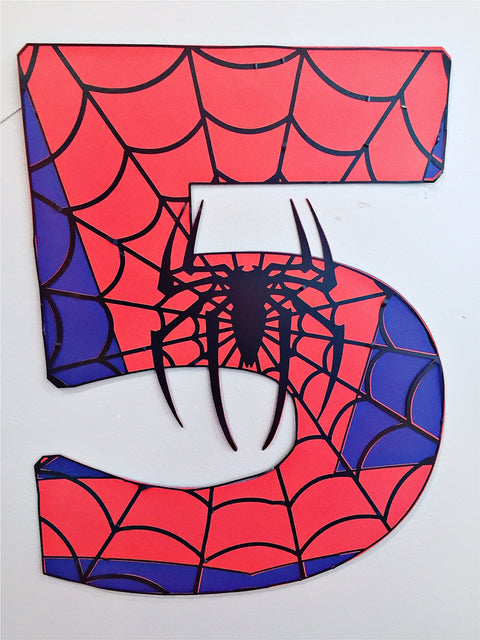 Spiderman number sign