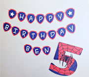 Spiderman personalised bunting