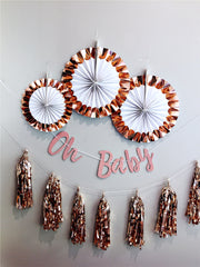 Rose gold party supplies