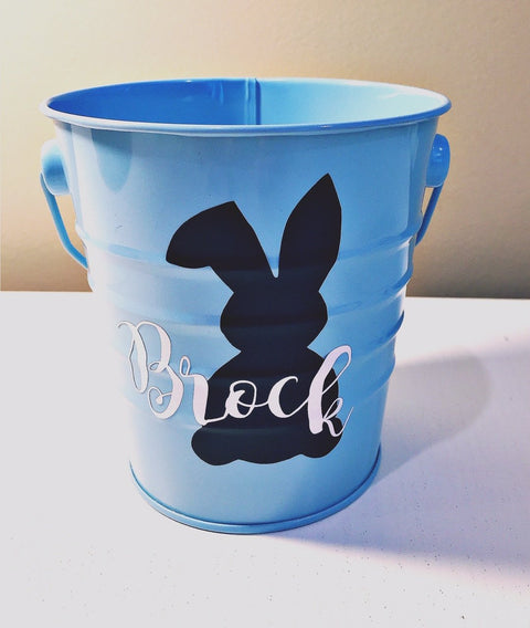 Bunny party supplies personalised bucket