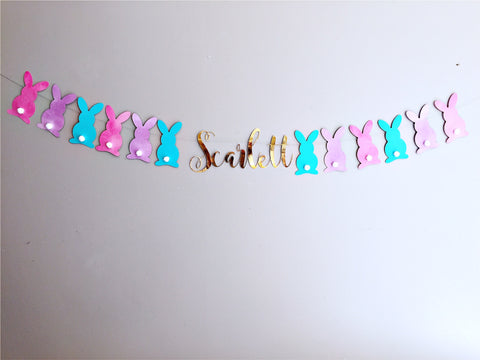 Bunny party supplies personalised bunting