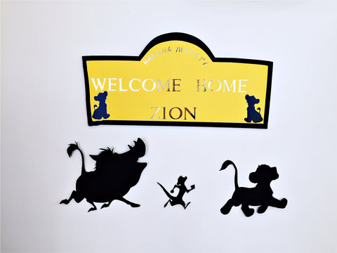 Lion king personalised sign