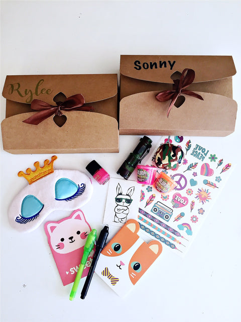 Sleepover slumber party boxes