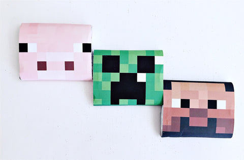 Minecraft chocolate wrappers
