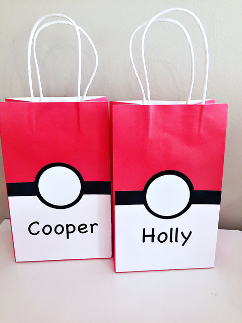 Pokemon personalised party gift bags