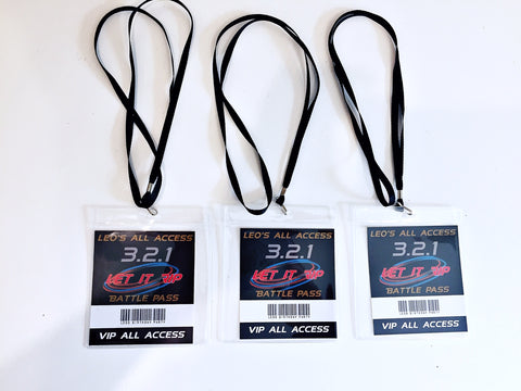 Beyblade party lanyards