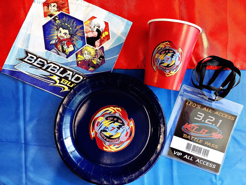 Beyblade party tableware
