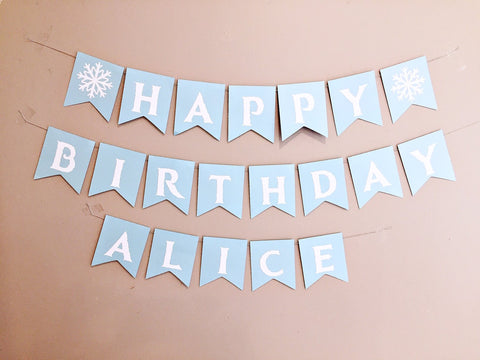 Frozen themed personalised bunting