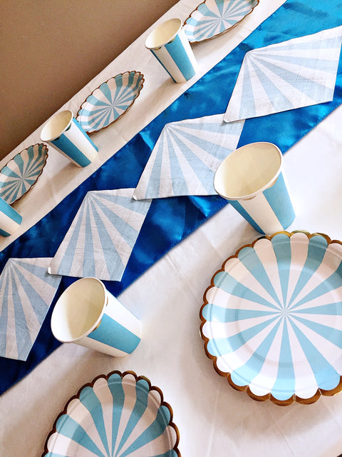 Blue baby shower party tableware