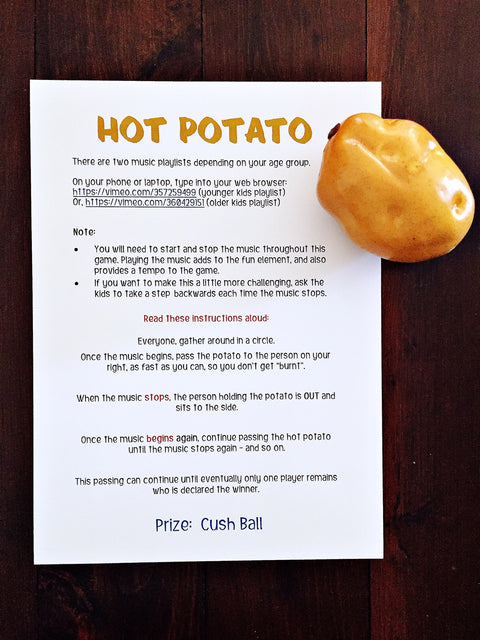 Hot potato party game