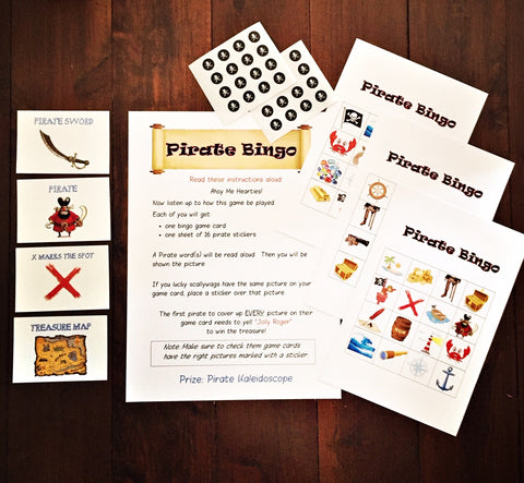 Pirate bingo party game