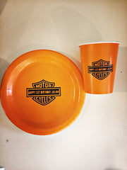 Harley Davidson themed party tableware