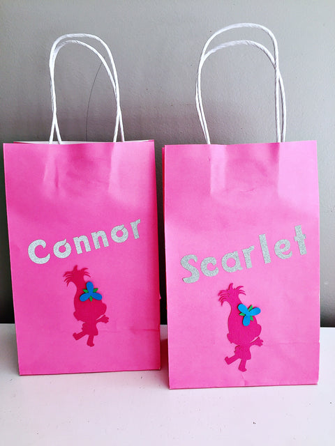 Trolls personalised party bags