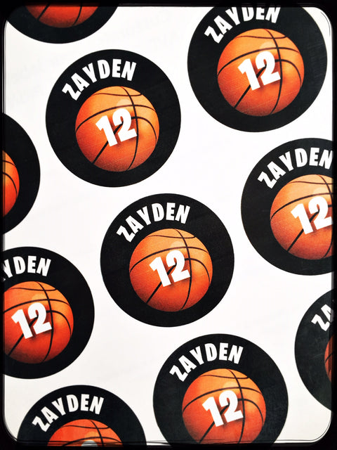 Basketball personalised stickers