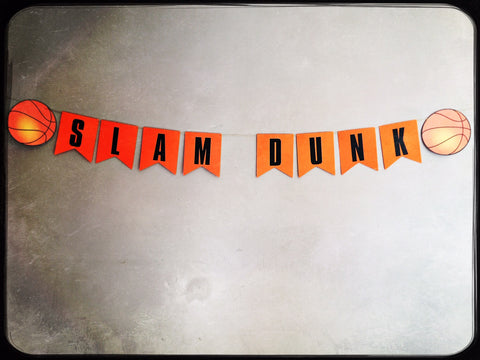 Personalised handmade basketball themed bunting