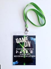 laser tag party lanyards