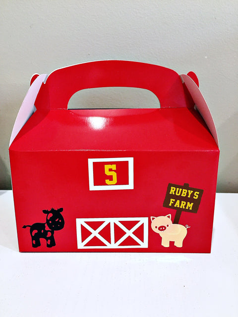 Personalised farmyard gift boxes