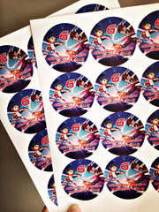 Personalised Beyblade stickers
