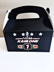 Personalised WWE party boxes