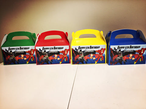 Personalised superhero gift boxes