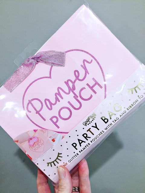 Pamper party pouches gift bags