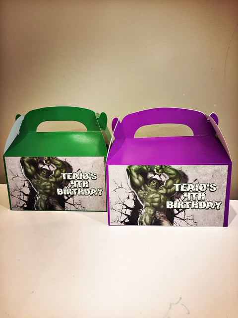 Hulk personalised gift boxes