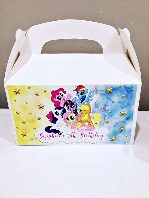 My Little Pony personalised gift boxes