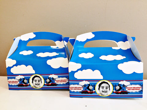 Thomas the tank engine personalised gift boxes