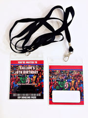 Avengers personalised lanyards