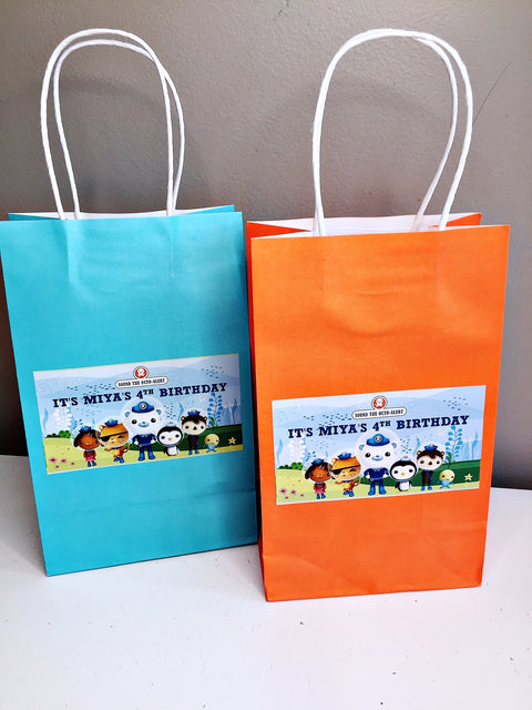 Octonauts themed personalised gift bags