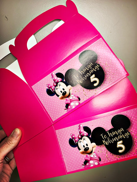 Minnie mouse personalised gift boxes
