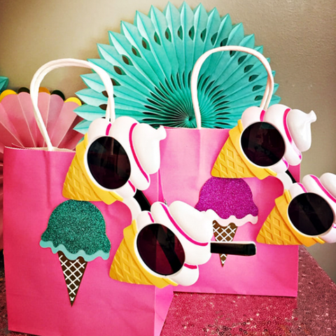 Ice cream party supplies gift bags