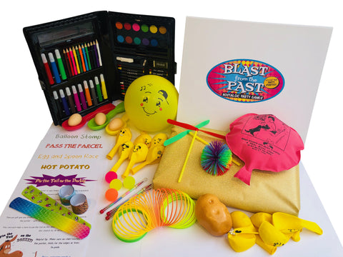 Kids party games box